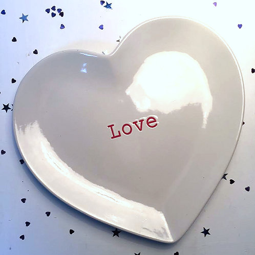 Valentines day Love decorative plate