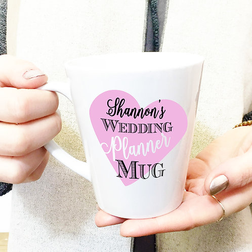 Wedding plans personalised ceramic mug.