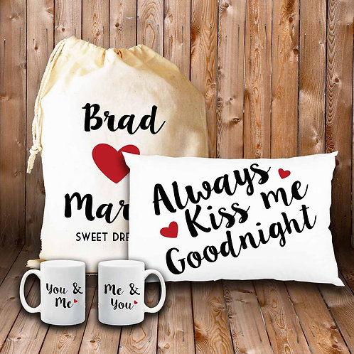 Valentines day Goodnight gift  set