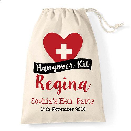 Hangover kit party gift bag.