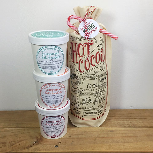Christmas Hot chocolate set with gift bag