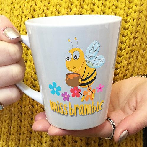 Personalised Bumblebee Latte Mug Teacher Gift