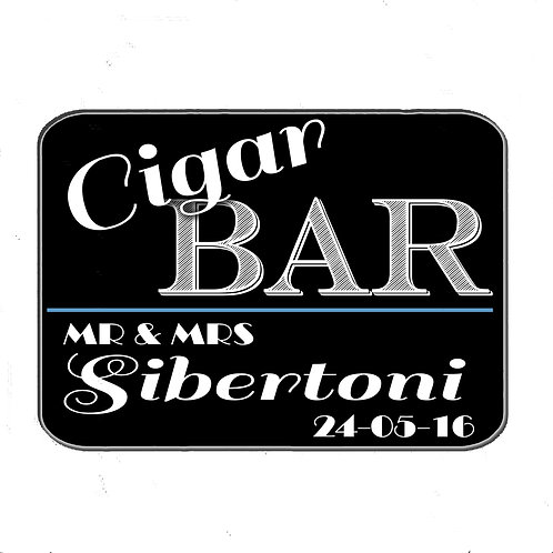 Personalised Cigar Bar wooden sign