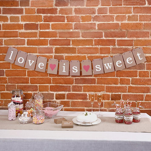 Love is Sweet Bunting.