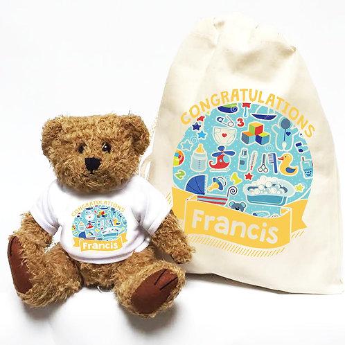 Personalised Baby Shower New Mummy Bear