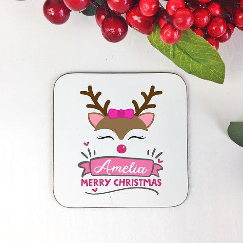 Personalised coaster Reindeer design