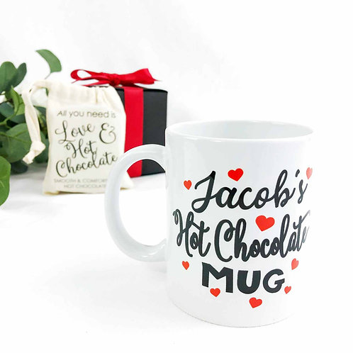 Valentines Day Personalised Mug and Drink