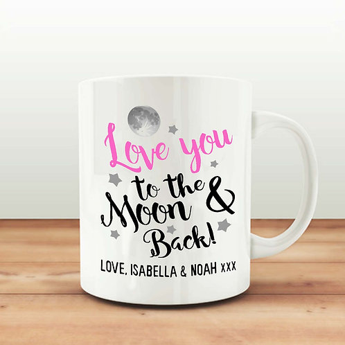 Love you to the moon & back mug gift