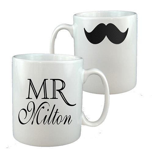 Mr Moustache Teacher Thank You Mug