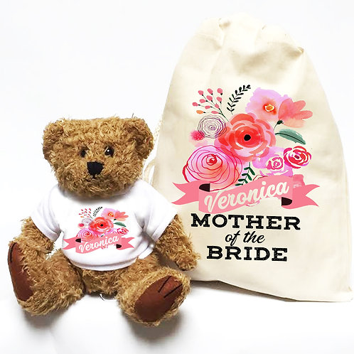 Mother of the Bride or Groom Bear and Bag