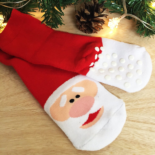 """Children's Christmas slipper socks """" SANTA """""""