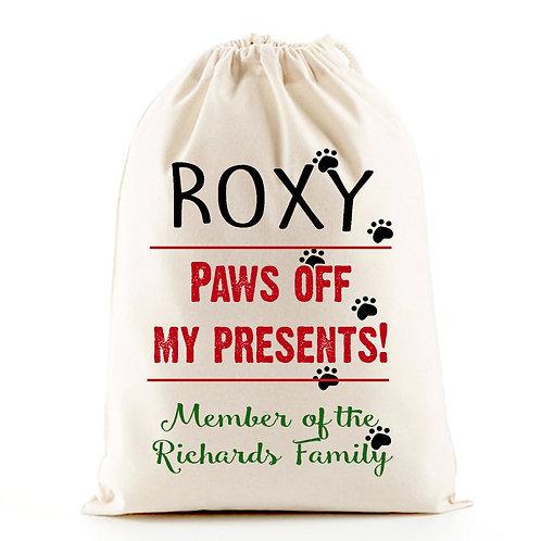 Pet dog Christmas gift bag.