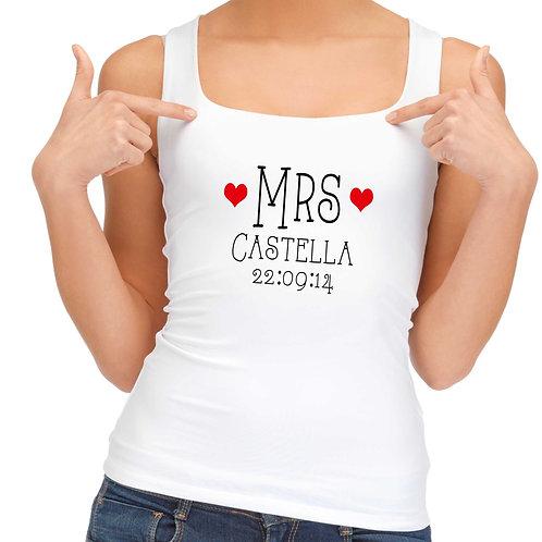 Personalised Little Hearts Mrs vest