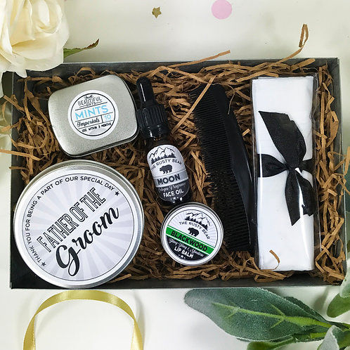 Father of the Groom Metal Grooming Tin Gift Set