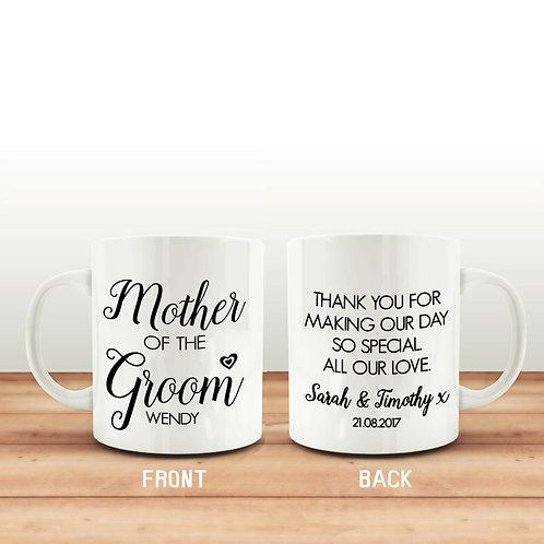 Mother of the Groom wedding Mug.