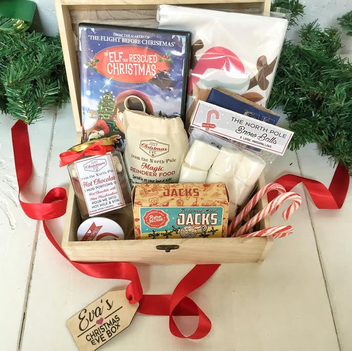 Personalised pre-filled Christmas eve box