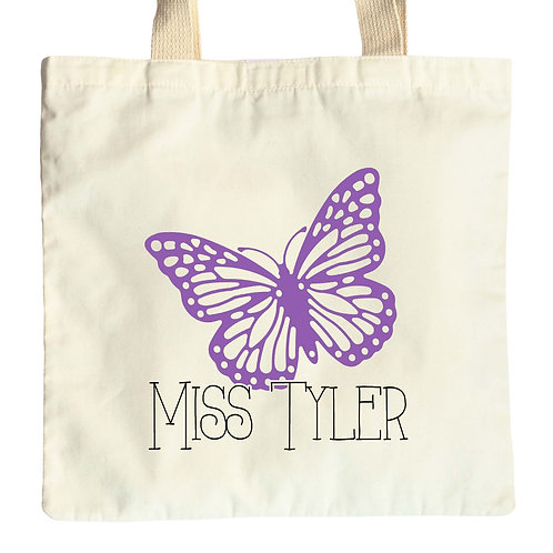 Butterfly Teacher Tote Bag