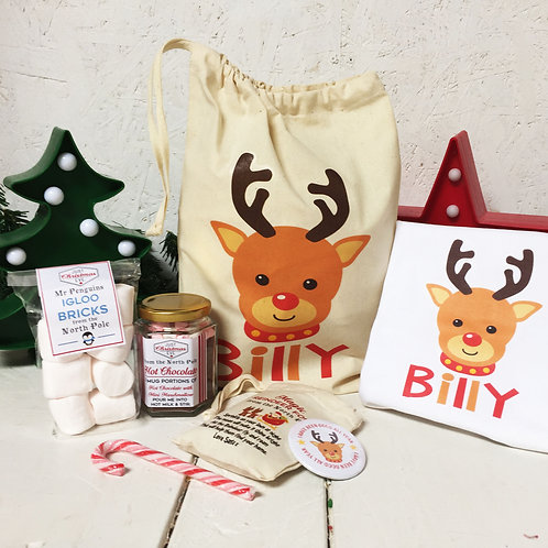 Cute Reindeer Pre Filled Gift set & T shirt