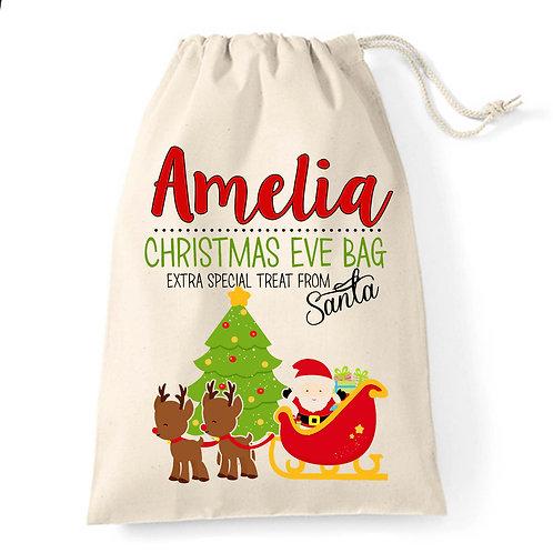 Santa's sleigh Christmas eve bag