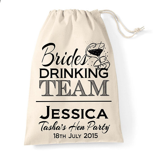 Brides Drinking Team Personalised Gift Bag