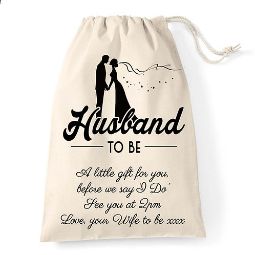 Husband To Be special Wedding Thank You gift bag