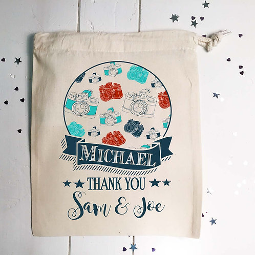 Personalised wedding photographer gift bag