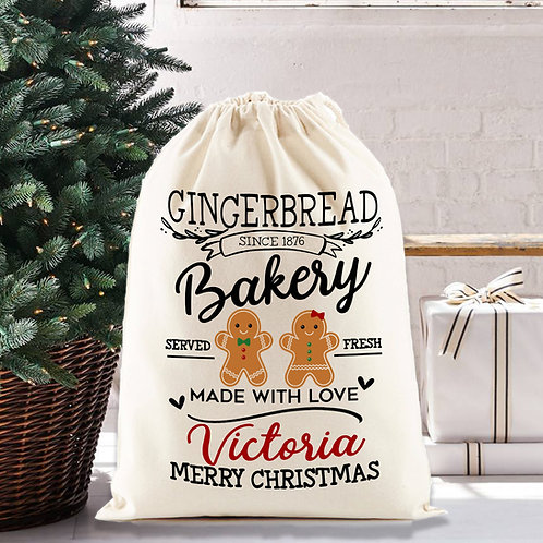 Christmas Santa Sack | Gingerbread