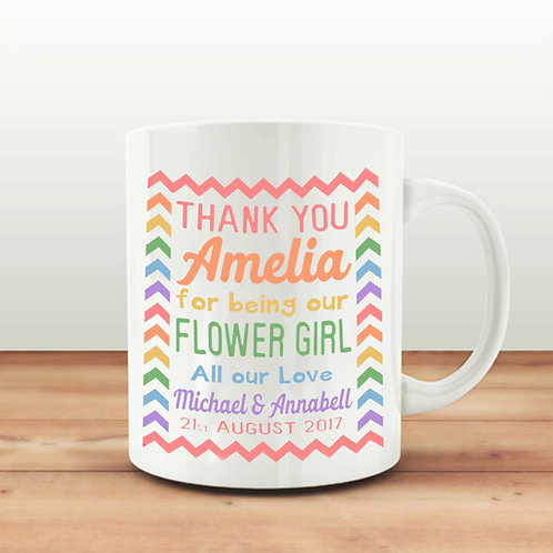 Personalised Flower Girl mug