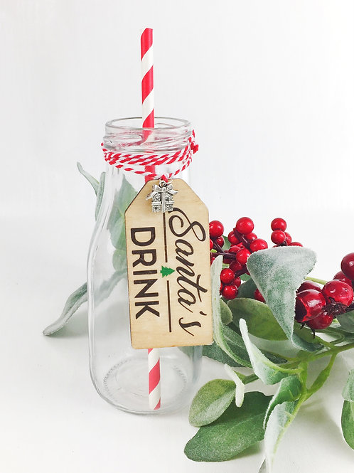 Santa's Milk Bottle Christmas Eve Drink