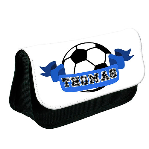Football star personalised pencil case.