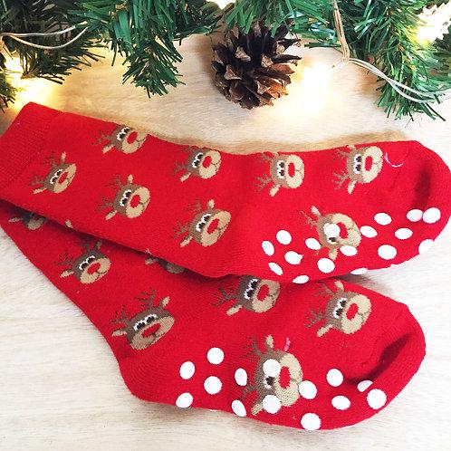 """Children's Christmas slipper socks """" RUDOPLH """""""