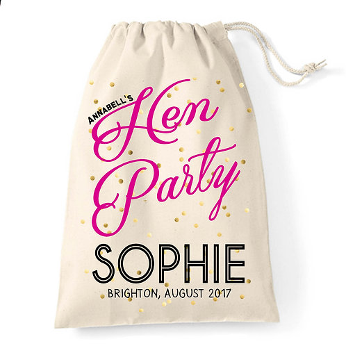 Hen Party gift bag.