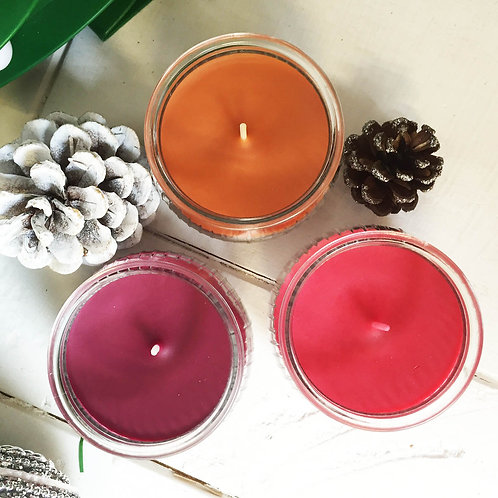Christmas scented candles choice of 4