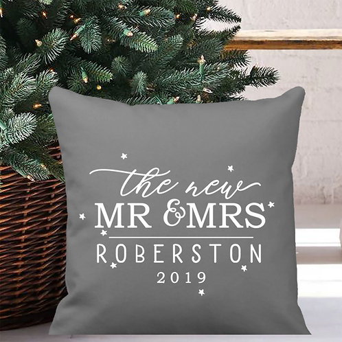 First Christmas cushion cover for Mr and Mrs.