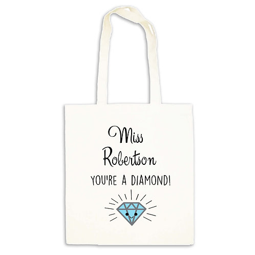 You're A Diamond Teacher Tote Bag