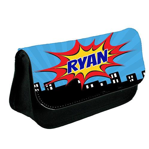 Super hero comic school pencil case.