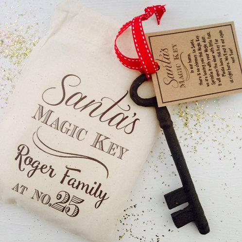 Santa's Magic Key and gift bag