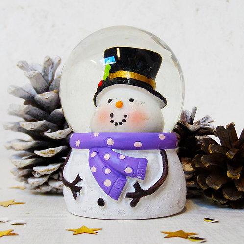 Snowman mini snow globe