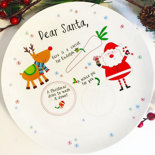 Santa's Christmas Eve ceramic plate