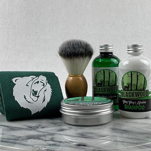 Blackwood 5pc Gift Set, Socks, Shower Gel, Aftershave Balm, Shampoo and