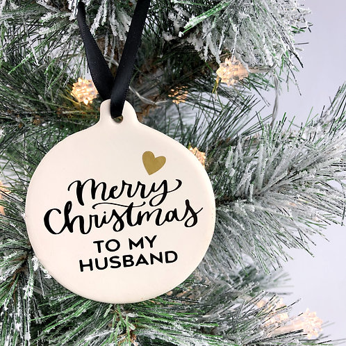 Christmas tree decoration for your husband, fiance and boyfriend.