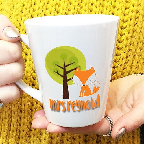 Clever Fox Personalised Teacher Latte Mug