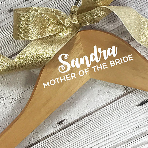 Mother of the Bride coat hanger.