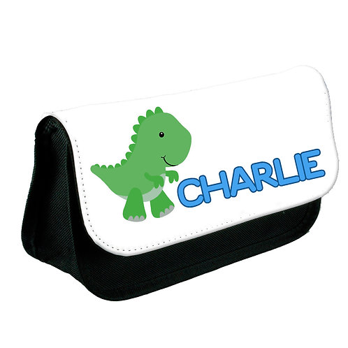 Dinosaur personalised pencil case.
