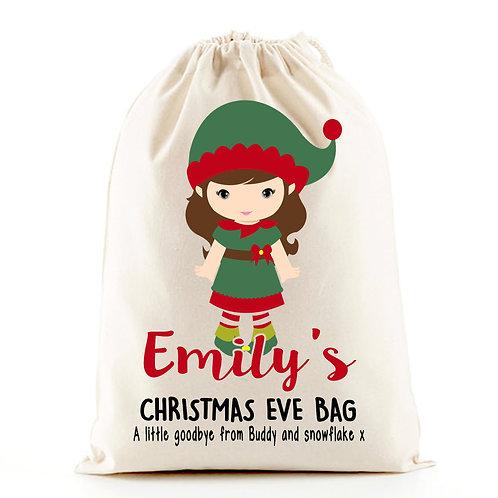Magic Girl  Elf Christmas Eve Gift Bag