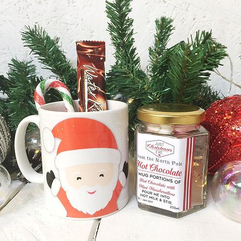 SANTA mug and luxury hot chocolate gift set