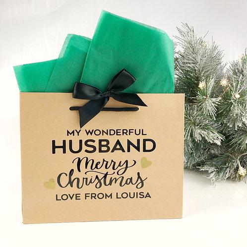 Luxury Christmas gift bag for Husband, Fiance or Boyfriend