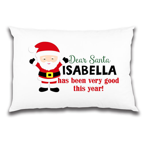 Christmas pillow case Santa design.
