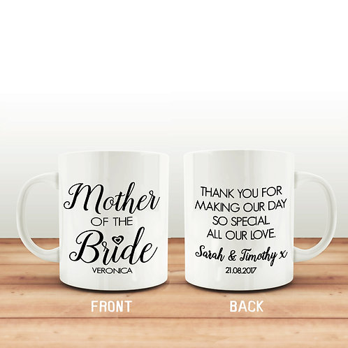 Mother of the Bride mug thank you gift.