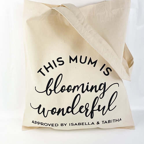 Cotton Shopper Bag for Mum, Nanny, Grandma